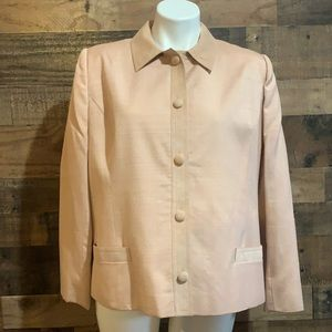 Vintage Dior Pale Pink Linen Suede Blazer Jacket